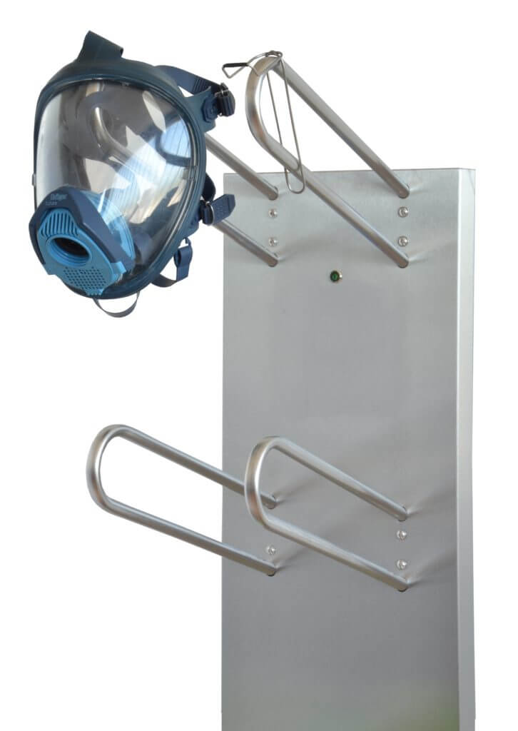 gas mask dryer with warm air