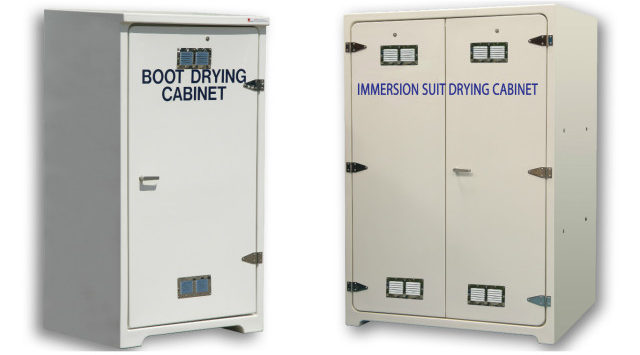 JoBird GRP drying cabinets on board offshore ships