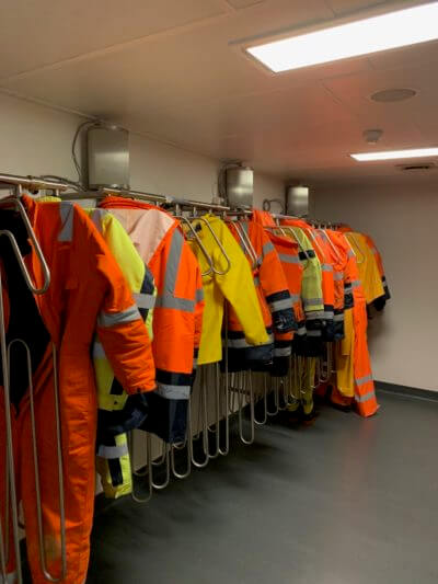 complete drying room solution for heavy work equipment