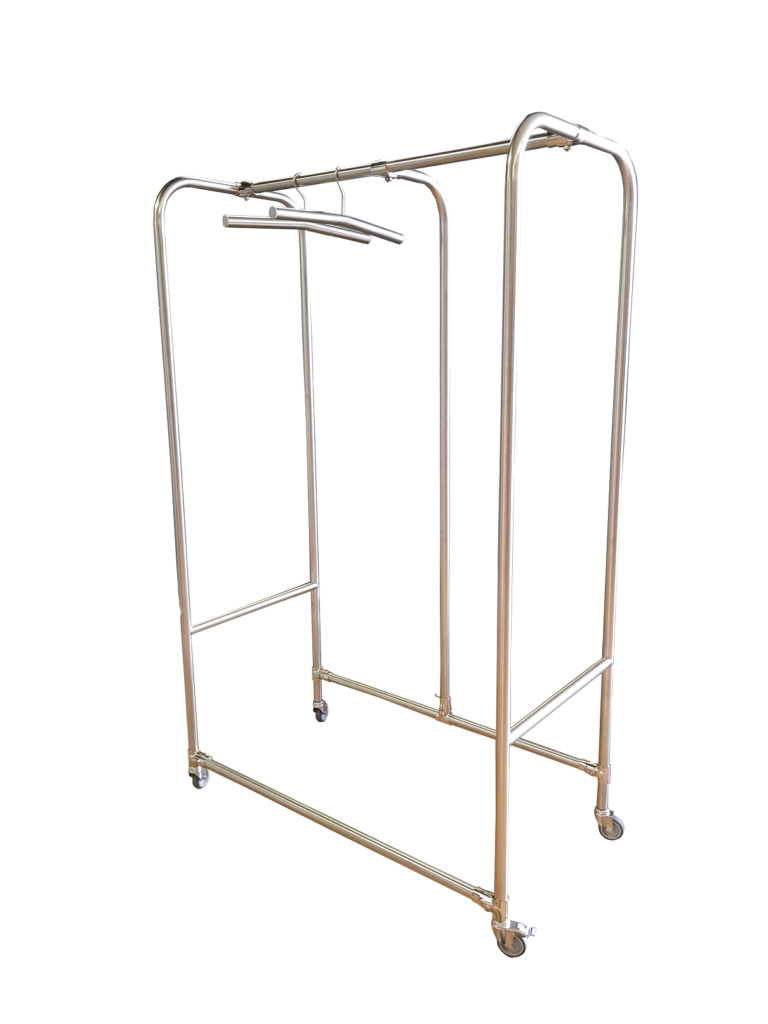 mobile storage rack for workwear