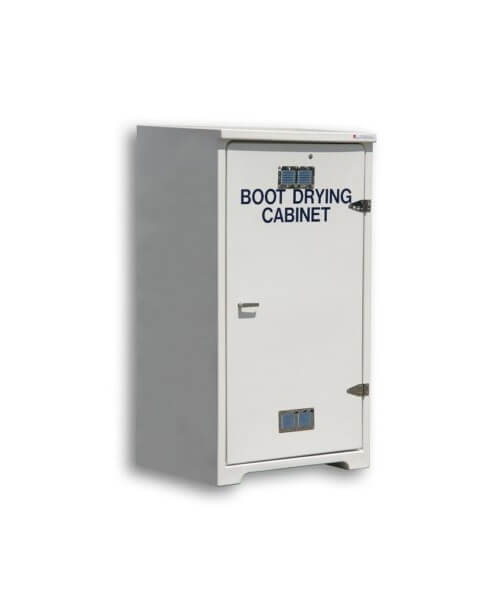 GRP robust drying cabinet for quick drying of boots