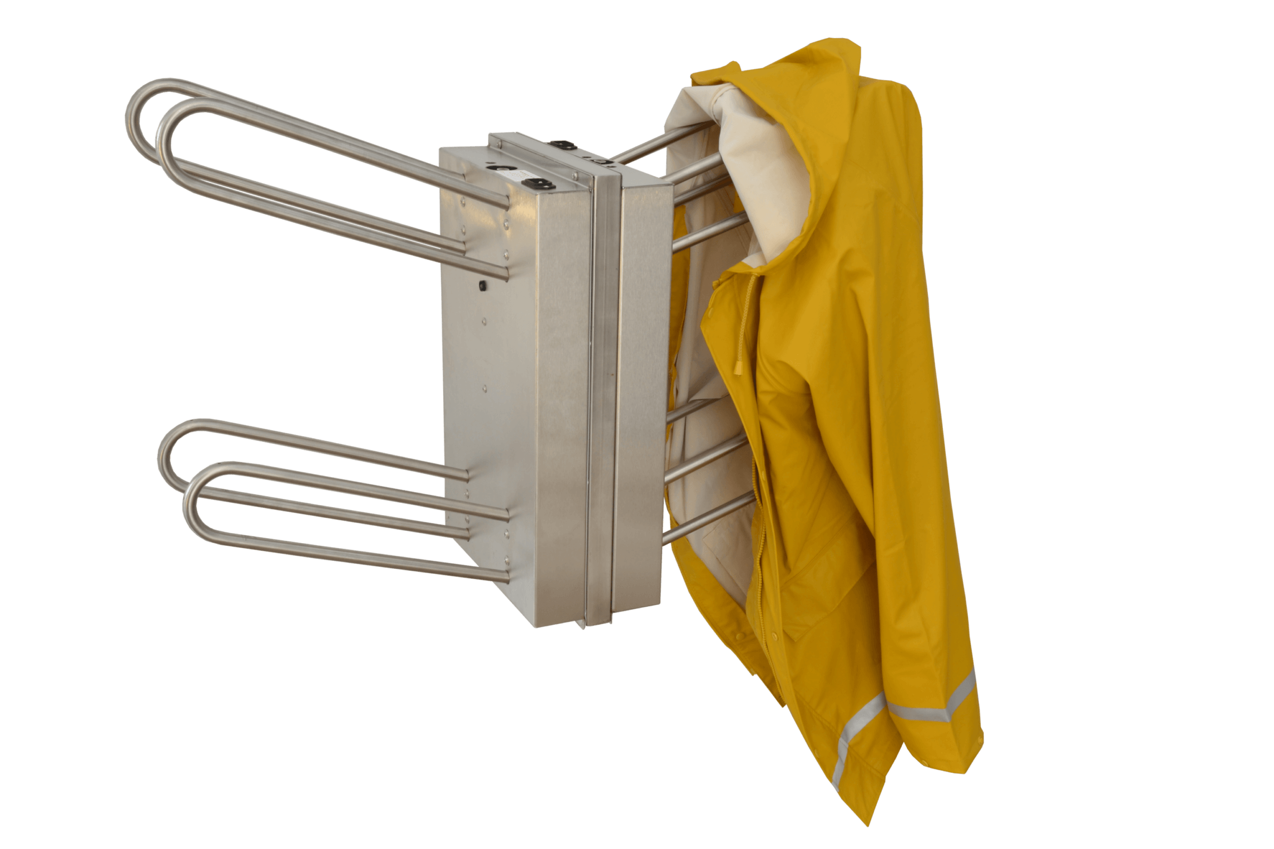 Stainless steel compact dryer for fishery clothing and rain jackets