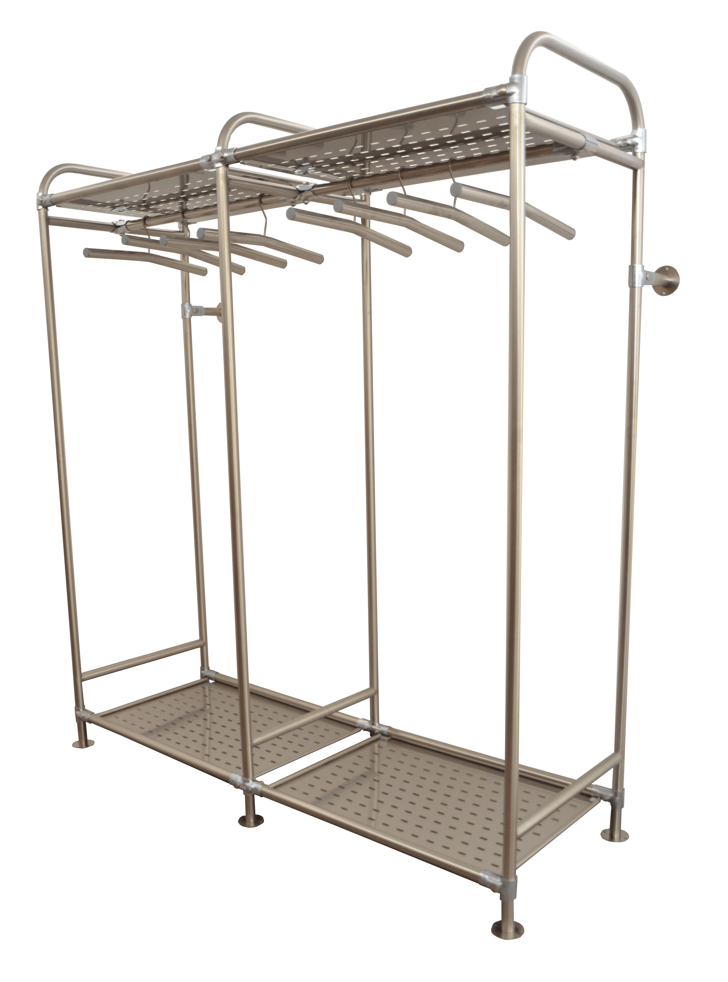 stainless steel rack to collect light workwear