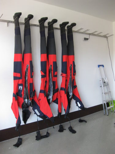 wall-mounted drying equipment for training and service stations