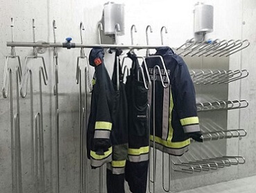dryer for firefighting uniforms, rescue trousers, gloves and boots